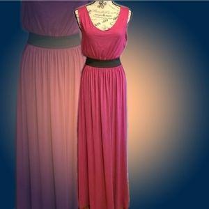 Ezra Magenta Sleeveless Maxi Dress
